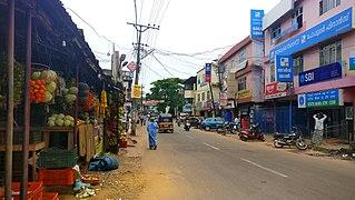 Anchalumoodu Neighbourhood in Kollam district, Kerala, India