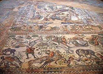 Поздняя римская мозаика на вилле Романа в Ла-Ольмеде[en], Испания, IV-V века н. э.