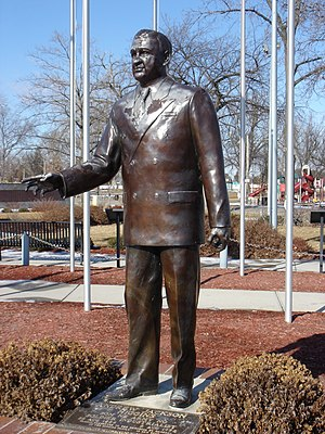 Andrew Higgins - Statue of Andrew J. Higgins located at the Andrew Jackson Higgins National Memorial in Columbus, Nebraska.