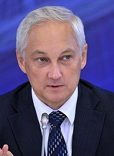Andrey Belousov Russian economist and politician