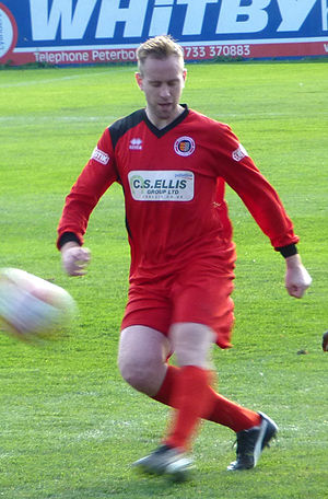 Andy Burgess - Burgess playing for Stamford in September 2013