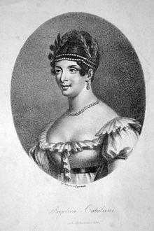 Angelica Catalani, Lithographie von Josef Lanzedelli d. Ä., ca. 1820 (Quelle: Wikimedia)