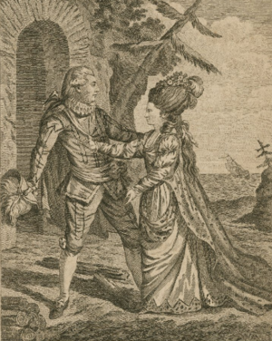 Ann Cargill - Tempest, Miss Brown and Mr. Mattocks in the characters of Miranda and Ferdinand