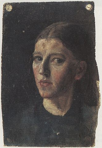 Anna Ancher - Anna Ancher, self-portrait, ca. 1877–78