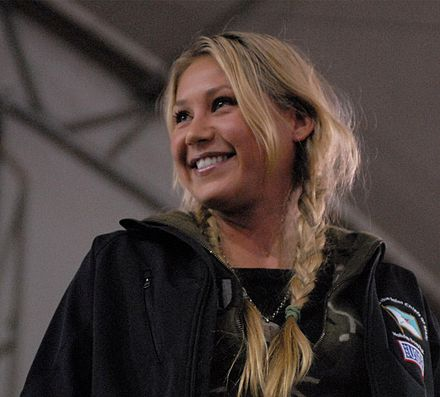 Kournikova at a USO-sponsored tour at Forward Operating Base Sharana on December 15, 2009 Anna Kournikova, 2009.jpg