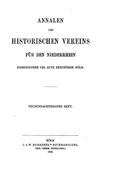 File:Annalen des Historischen Vereins für den Niederrhein 89 (1910).djvu