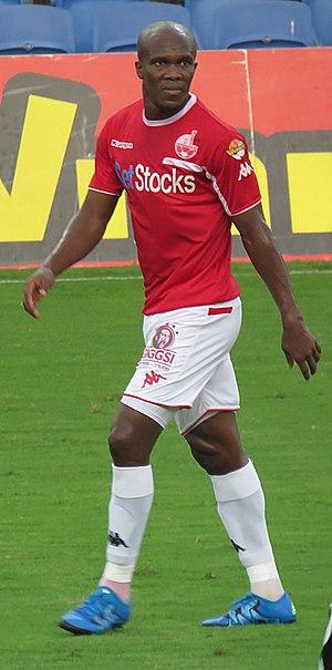 Anthony Nwakaeme - Nwakaeme playing for Hapoel Be'er Sheva in 2015