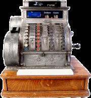 Une des premières caisses enregistreuses.