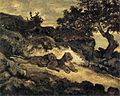 Antoine-Louis Barye - Lions near their Den - WGA1390.jpg