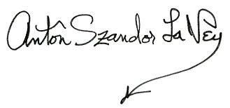 Anton LaVey - Image: Anton La Vey Signature
