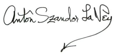 Anton LaVey Signature
