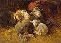 Anton Schrödl - Schafe im Stall - 3737 - Kunsthistorisches Museum.jpg