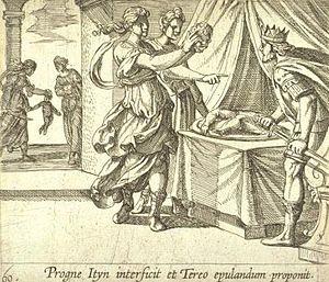 Antonio Tempesta - Antonio Tempesta, Tereus, Procne, and Philomela, 1606