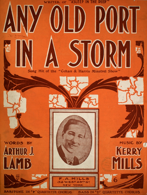 Any Old Port in a Storm - Cover, sheet music, 1908
