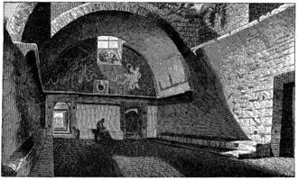 Apodyterium - Apodyterium of the old baths at Pompeii.