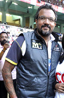 Apoorva Lakhia at CCL match, 2011.jpg