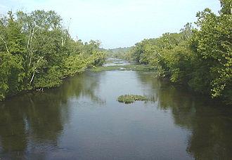 Appomattox River - The Appomattox River at Matoaca, Virginia
