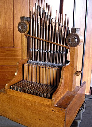 Pipe organ - Modern replica of the Aquincum hydraulis from 228 AD
