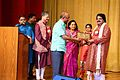 Arabinda Muduli recieving memento from Sunil Jain, Ambassador of India at Embassy of India, Kuwait 03.JPG