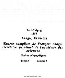 Œuvres complètes de François Arago, secrétaire perpétuel de l'académie des sciences