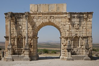 Volubilis - Arch of Caracalla (Triumphal Arch)
