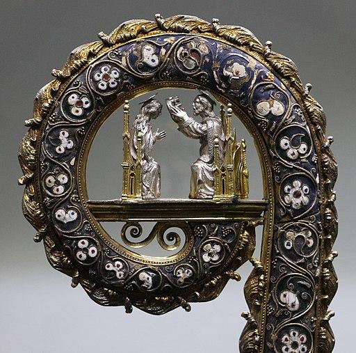 Argentiere napoletano, bacolo pastorale dell'arcivescovo antonio de' ricci, argento e smalti, 1453-90 ca. 02