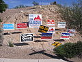 Arizona 8th district campaign signs 2006 election.jpg