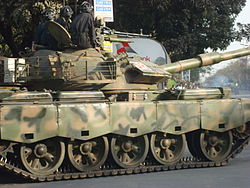 Army Tank pointing Towards BDR headquarters