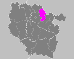 Location of Boulay-Moselle in Lorraine