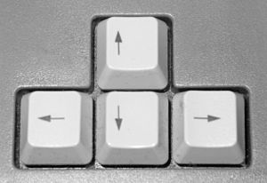 Picture of arrow keys of a PC keyboard
