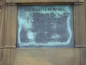 Arthur Forwood - Plaque on Forwood's statue