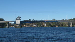 Florida State Road 40 - The bridge at Astor carries SR 40 across the St. Johns River, between Lake and Volusia Counties