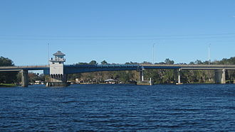 Astor, Florida - The Astor Bridge over the St. Johns River between Astor and Volusia.