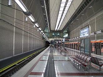 Agios Dimitrios metro station - Station Platforms