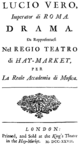 Attilio Ariosti - Lucio Vero - titlepage of the libretto - London 1727.png