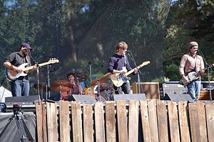 Augie March - Augie March on stage at the Hardly Strictly Bluegrass festival in October 2007