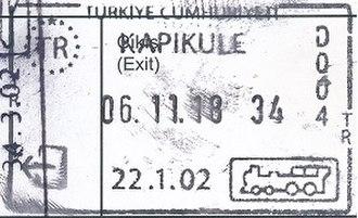 Visa policy of Turkey - Image: Ausreisestempel Türkei