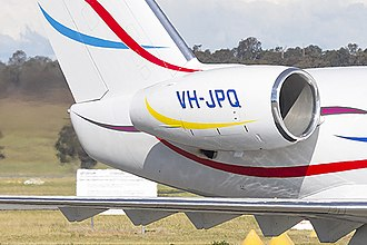 Lycoming ALF 502 - Honeywell ALF 502 on an early Challenger 600