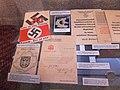 Austrian Nazi ephemera Propaganda postcards pins pamphlets Anschluss Österreichs an das deutsche Reich March 1938 Heeresgeschichtliches Museum, Vienna, Austria, 2013.jpg