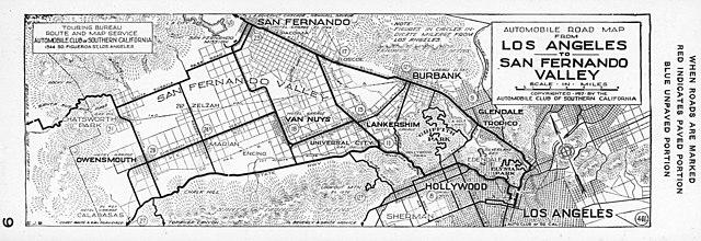 File:Automobile road map from Los Angeles to San Fernando ... on hollywood boulevard map, santa clarita map, mulholland drive map, san fernando freeway map, calabasas map, city of san fernando map, gold line map, san fernando bus map, pasadena map, north hollywood shootout map, van nuys airport map, san fernando ca map, california state route 138 map, universal studios hollywood map, los angeles river map, i-5 map, bob hope airport map,