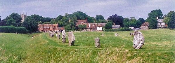 Avebury henge and village UK