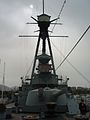 Averof conning tower and bow 234 mm main turret.JPG
