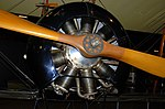 Avro 504K engine and propellor detail, Museum of the US Air Forces, Dayton, Ohio. (28020916528).jpg