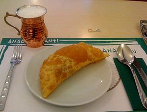 Börek - Çibörek and Ayran