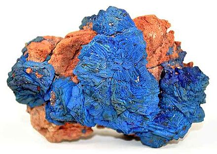 Azurite specimen from the great Morenci Mine. Azurite-284714.jpg