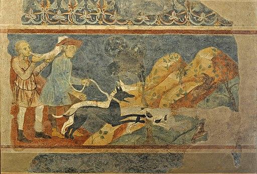 Azzo di Masetto San Gimignano, Scene di torneo e caccia, San Gimignano, Palazzo Comunale
