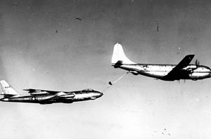 Barksdale Air Force Base - Boeing B-47A Stratojet AF Serial No. 49-1902 refueled by Boeing KC-97