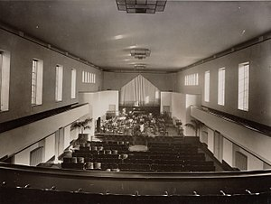 Sem Dresden - The old Amsterdam Conservatory concert hall in 1931 at the Bachstraat