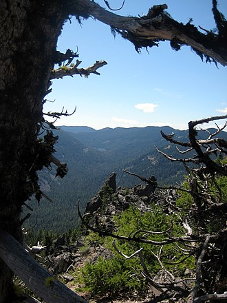 Badger Creek Wilderness - Badger Creek Wilderness from the Divide Trail in the northwestern portion of the wilderness