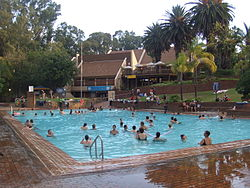 The main swimming pool at Badplaas